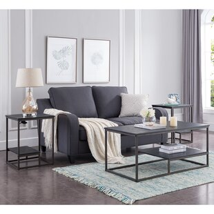 Ebern Designs Hotwells Occasional 3 Piece Coffee Table Set