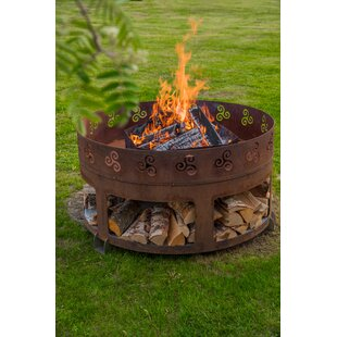Steel Wood Burning Fire Pit By GrillSymbol