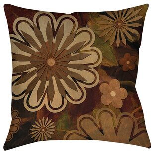 Floral Abstract I Printed Throw Pillow by Manual Woodworkers & Weavers Best Choices