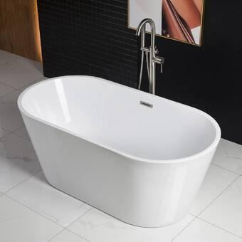 Vanity Art 55 X 28 Freestanding Soaking Bathtub Reviews Wayfair Ca