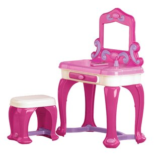 Best Reviews Deluxe Vanity Set with Mirror By American Plastic Toys