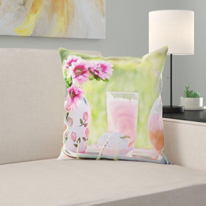 Pink Lemonade Throw Pillow