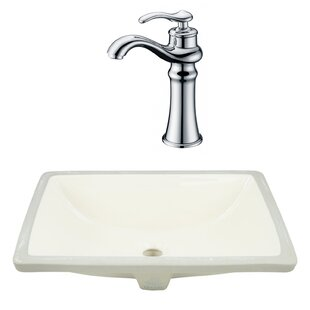 Best Reviews CSA Ceramic Rectangular Undermount Bathroom Sink with Faucet and Overflow ByRoyal Purple Bath Kitchen