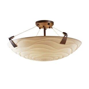 Mistana Thora Transitional 6-Light Square Bowl Semi Flush Mount