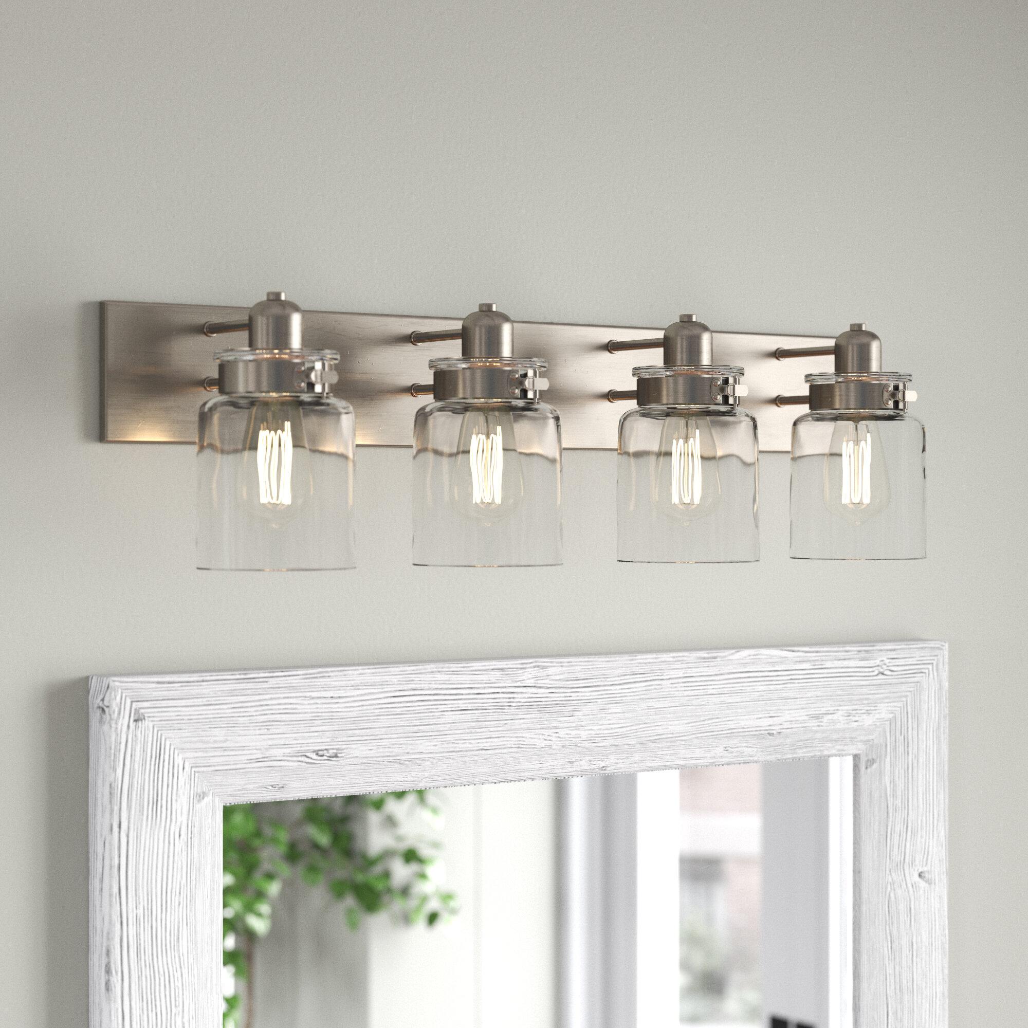 Image of: Joss Main Vasilia 4 Light Dimmable Vanity Light Reviews Wayfair