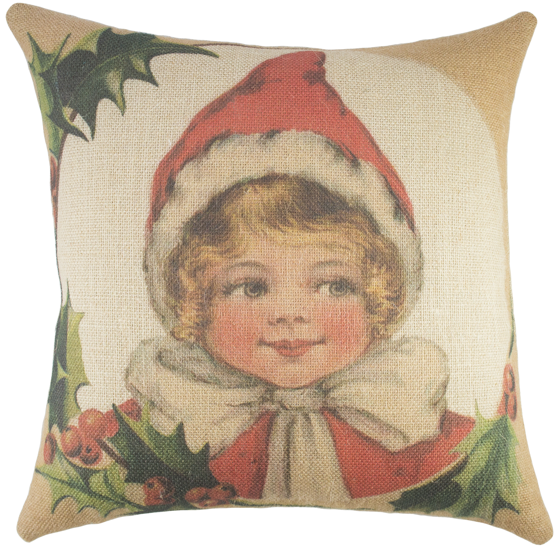 Picture of: Thewatsonshop Christmas Burlap Throw Pillow Reviews Wayfair