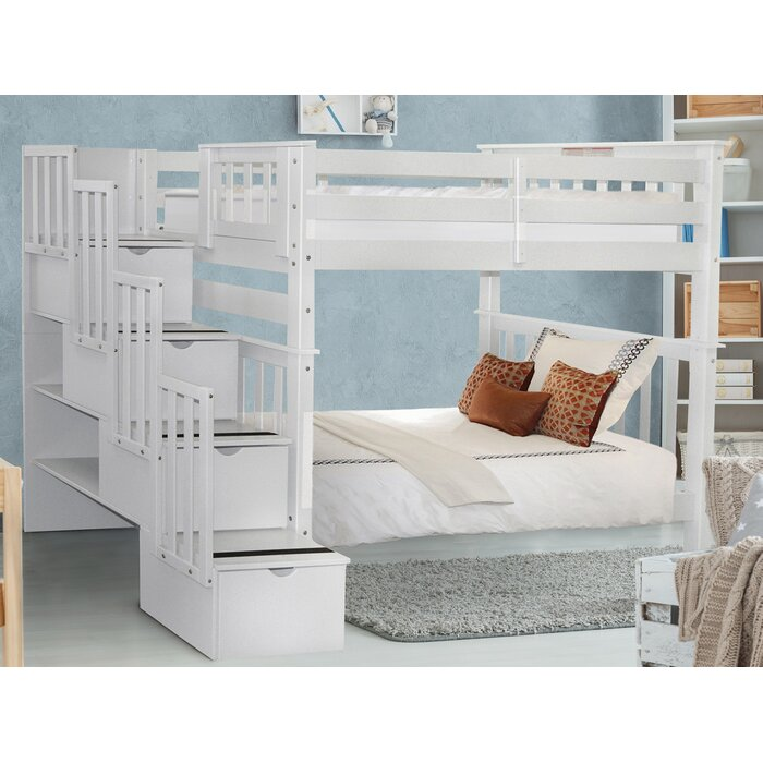 Tena Tall Twin Over Twin Stairway with 4 Drawers