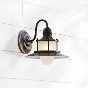 Longview 1-Light Outdoor Barn Light By Beachcrest Home Outdoor Lighting