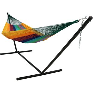 Waldschmidt Cotton Hammock with Stand by Millwood Pines