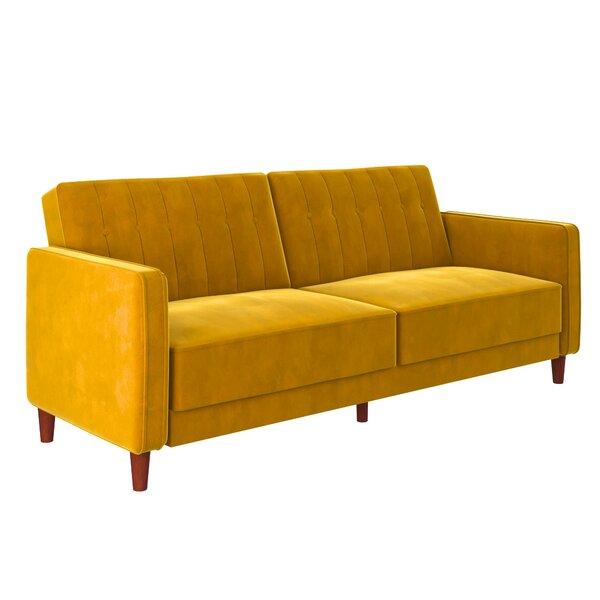 Groovy Mustard Yellow Velvet Sofa Wayfair Pdpeps Interior Chair Design Pdpepsorg