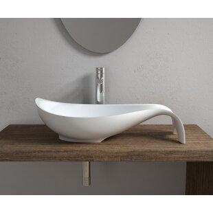 Look for Mermaid Stone Oval Vessel Bathroom Sink By InFurniture