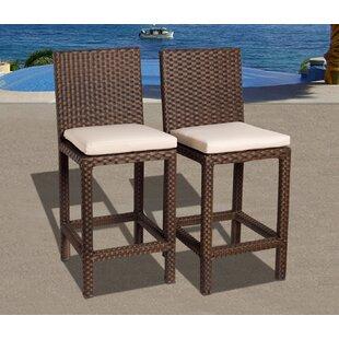 Jonael 28 Patio Bar Stools with Cushion (Set of 2)