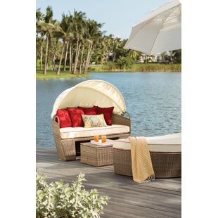 Beachcrest Home Garden Grove 3 Piece Daybed Set with Cushions