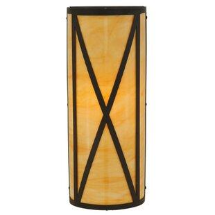 Affordable 1-Light Outdoor Flush Mount By Meyda Tiffany