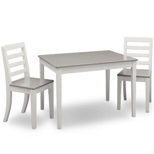 Lebanon Kids 3 Piece Writing Table and Chair Set by Harriet Bee