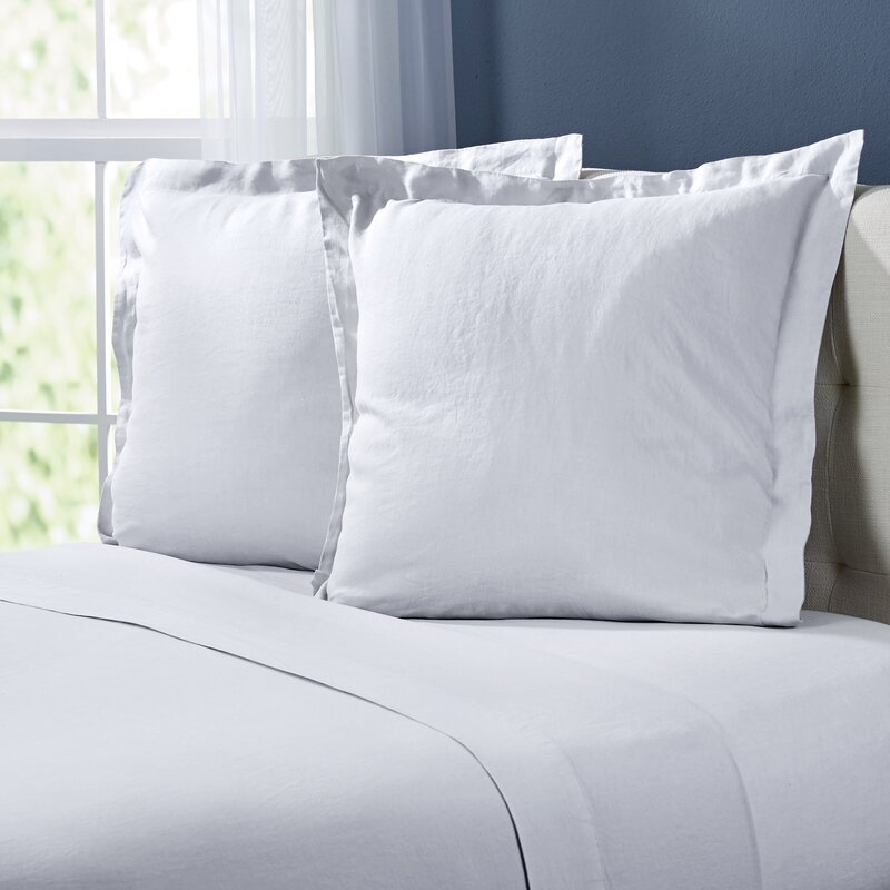 Allmodern Frazier Washeds Linen Euro Pillow Reviews Wayfair