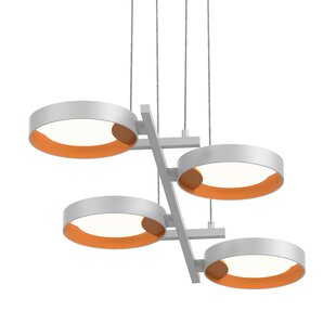 Tayler 4-Light Geometric Chandelier by Brayden Studio