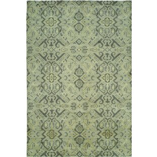 Hand-Woven Green Area Rug by Wildon Home®