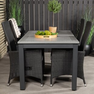 Jayesh 4 Seater Dining Set With Cushions By Sol 72 Outdoor