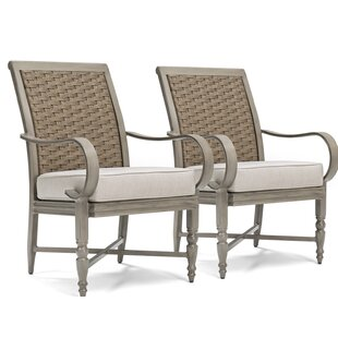 Alarcon Patio Dining Chair with Cushion (Set of 2)