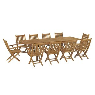 Cobb 11 Piece Teak Dining Set