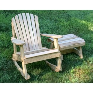 Marquez Rocking Adirondack Chair With Table by Rosecliff Heights Design