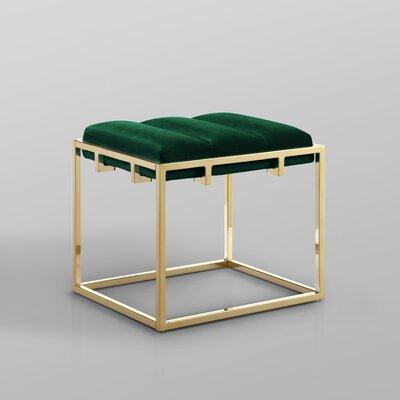 Magnificent Nicole Miller Kylen Channel Tufted Ottoman Leg Color Gold Customarchery Wood Chair Design Ideas Customarcherynet