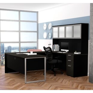 Kadian Reversible U-Shape Corner Desk with Hutch