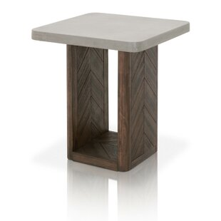 Belliveau Concrete Top End Table by Foundry Select