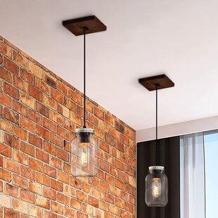 Gracie Oaks Calla 1-Light Jar Pendant