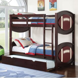 Askov Football Twin over Twin Bunk Bed by Harriet Bee