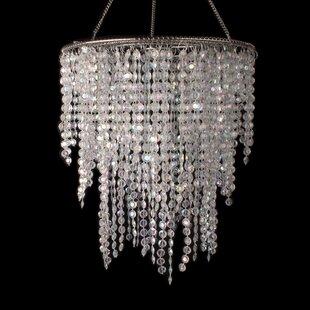 Bingen 3 Layered Crystal Iridescent Diamond Cut Crystal Chandelier by House of Hampton