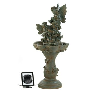 Zingz & Thingz Polyresin Solar Fairy Friends Water Fountain