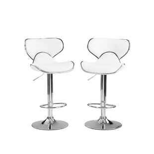 Height Adjustable Swivel Bar Stool (Set Of 2) By Metro Lane