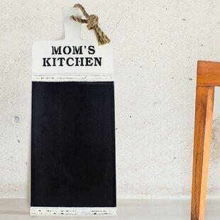 Momu0027s Kitchen Wood Wall Mounted Chalkboard