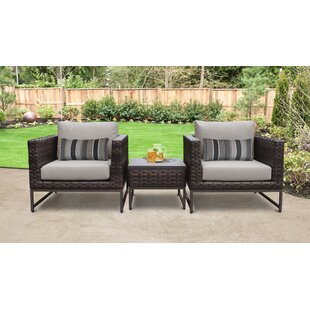 Barcelona Outdoor 3 Piece Seating Group with Cushions