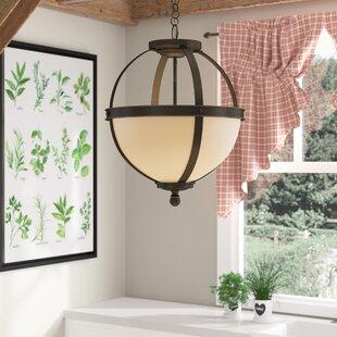 Gracie Oaks Doris 3-Light Globe Pendant