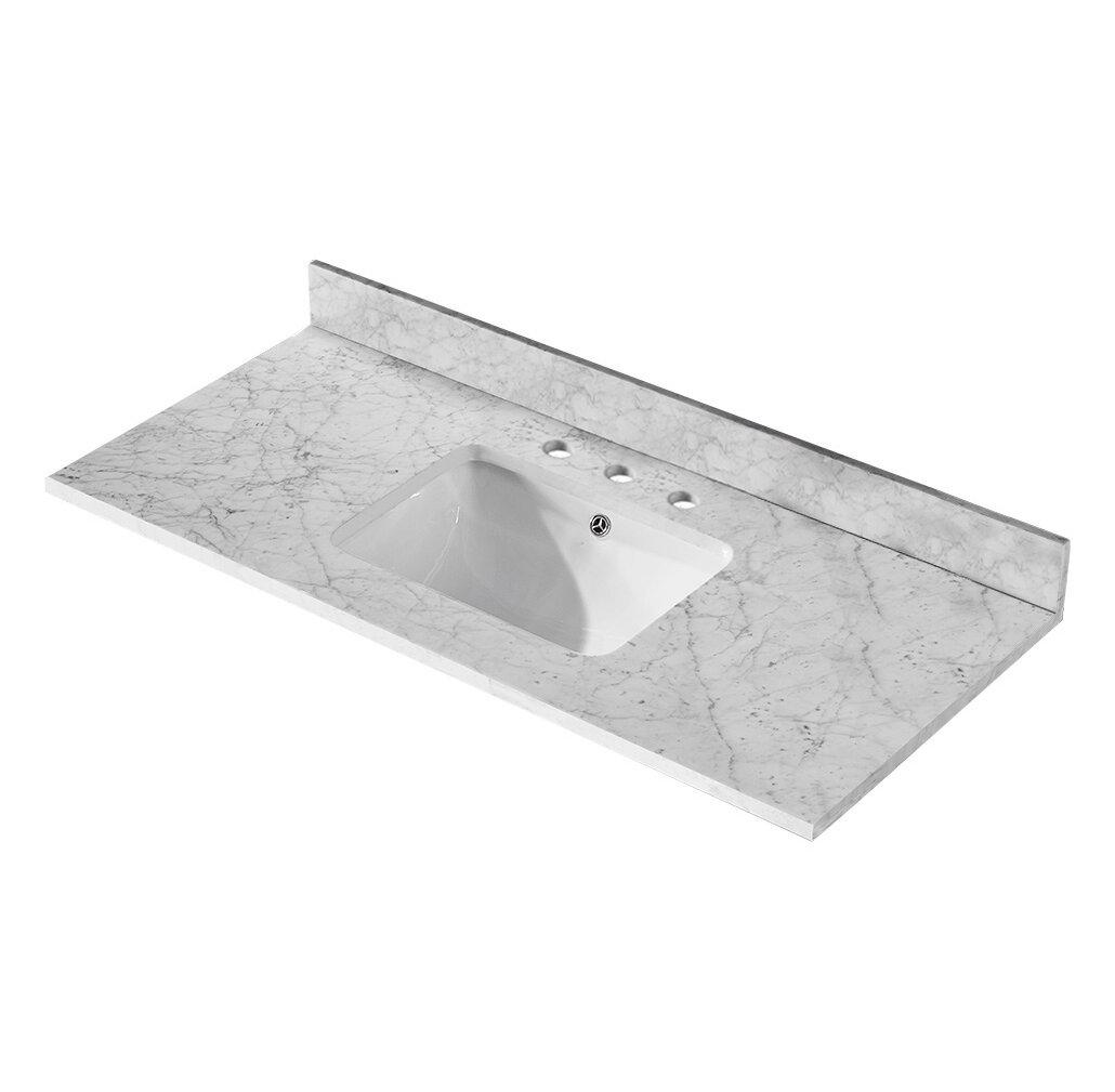 Exclusive Heritage Carrara Marble Countertop 48 Single Bathroom Vanity Top Wayfair