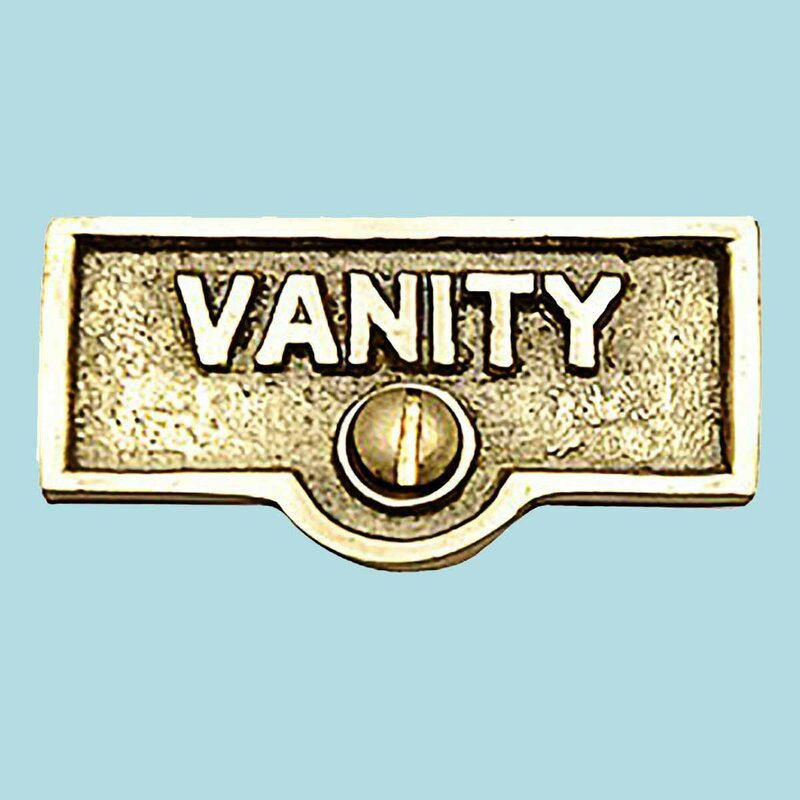 The Renovators Supply Inc Vanity Name Signs Labels Switch Plate Tag Wayfair