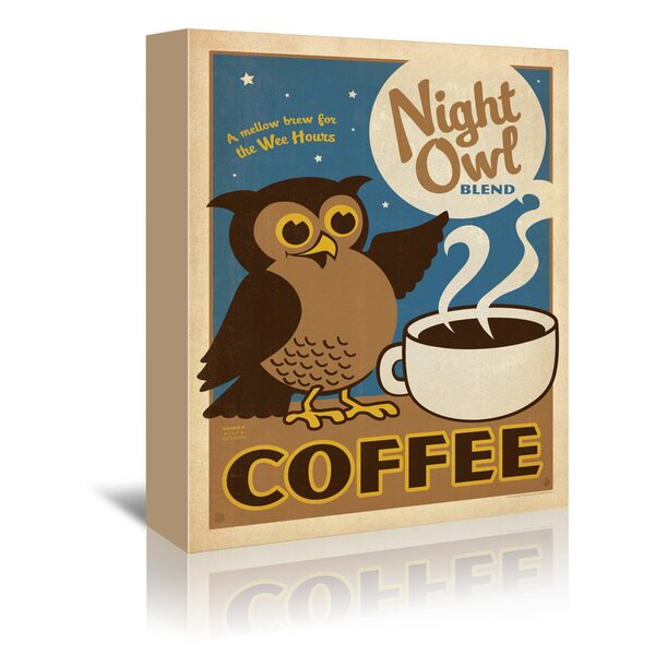 East Urban Home Night Owl Vintage Advertisement On Gallery Wrapped Canvas Wayfair