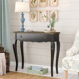 Zakary 35.4 Solid Wood Console Table by Ophelia & Co.