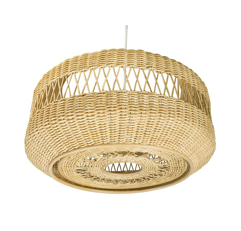 Bay Isle Home Caren 1-Light Single Drum Pendant