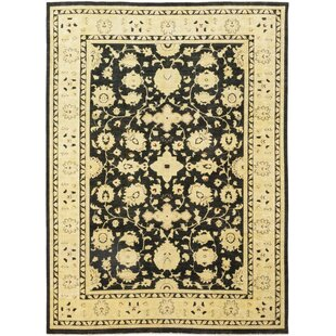 Find a One-of-a-Kind Devan Hand-Knotted Wool Black/Beige Indoor Area Rug By Isabelline
