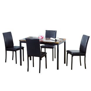 Cavalier 5 Piece Dining Set by Hazelwood Home