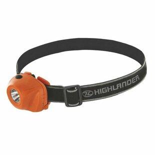 Michaelis Black/Orange Battery Powered LED Outdoor Headlamp By Symple Stuff