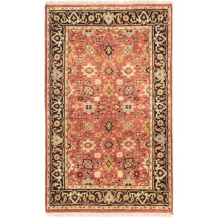 One-of-a-Kind Juliano Serapi Hand-Knotted 4' x 6'3 Wool Beige/Brown/Black Area Rug Isabelline