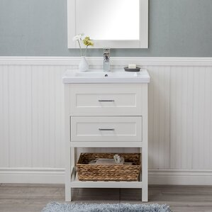 Hagins 24  Single Wood Bathroom Vanity set Vanities Joss Main