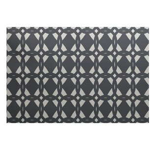 Bonilla Geometric Print Gray Indoor/Outdoor Area Rug