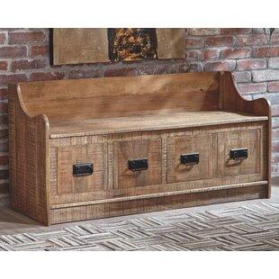 Khalil Solid Wood Storage Bench by Loon Peak