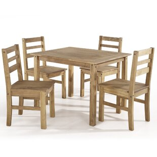 Robin 5 Piece Solid Wood Dining Set by Gracie Oaks
